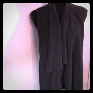 Cashmere long vest